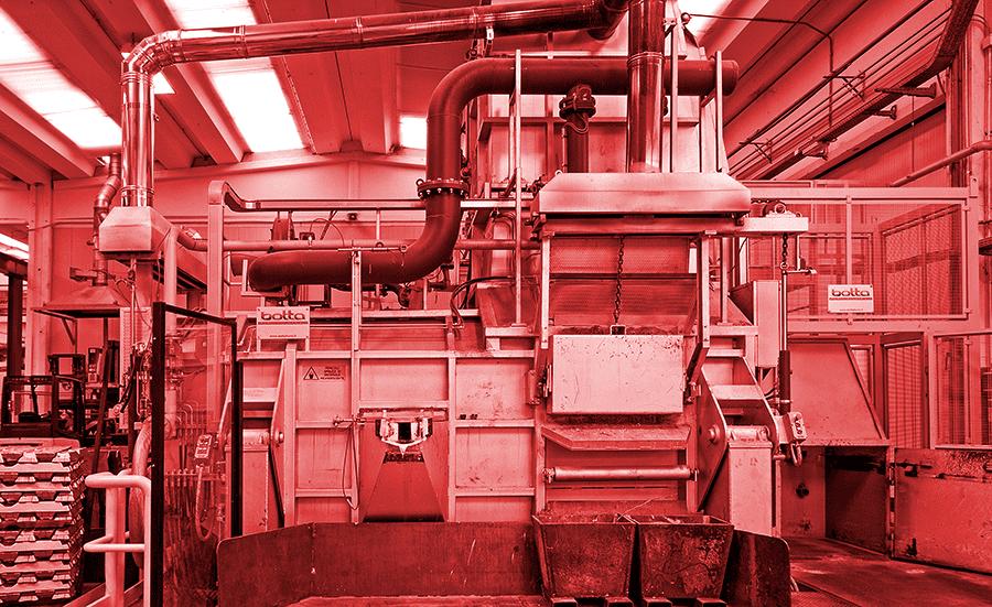 Melting tower furnace