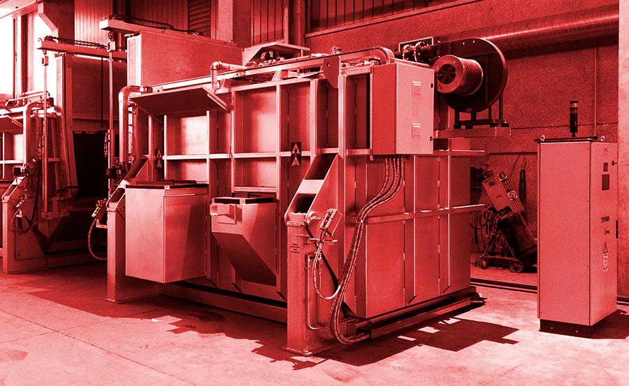 Melting and holding basic furnaces